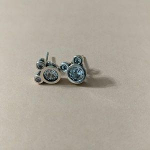 Cz Mickey head earrings